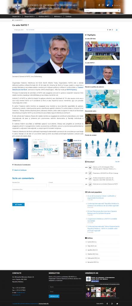 Ce este NATO     Centrul de Informare si Documentare privind NATO în Moldova